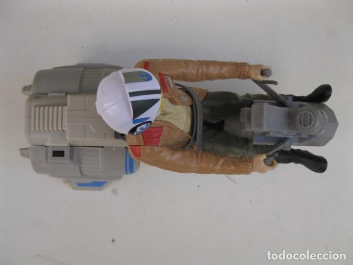 Figuras y Muñecos Star Wars: POE DAMERON CON SPEEDER BIKE - MOTO JET - STAR WARS - HASBRO - LFL. - Foto 7 - 137425902