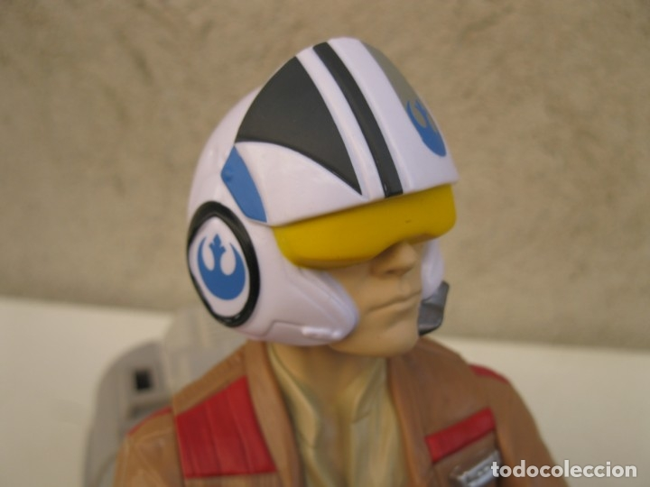 Figuras y Muñecos Star Wars: POE DAMERON CON SPEEDER BIKE - MOTO JET - STAR WARS - HASBRO - LFL. - Foto 9 - 137425902