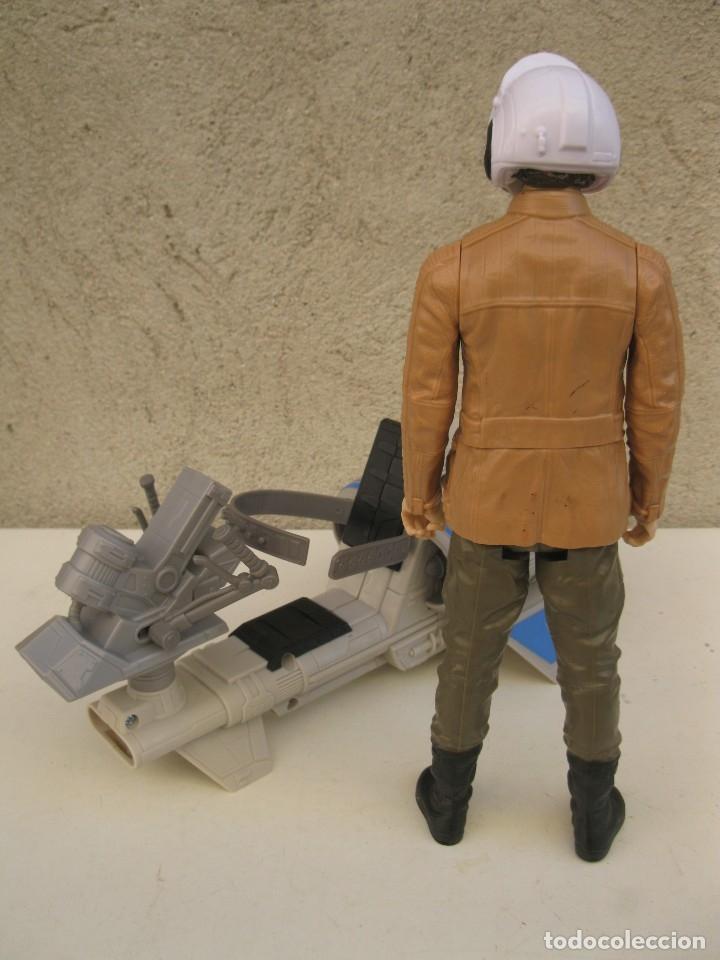 Figuras y Muñecos Star Wars: POE DAMERON CON SPEEDER BIKE - MOTO JET - STAR WARS - HASBRO - LFL. - Foto 11 - 137425902
