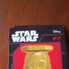 Figuras y Muñecos Star Wars: ABATONS STAR WARS 17 C3PO CROMO. Lote 137839590
