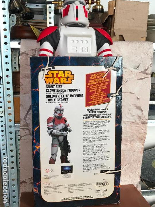 Figuras y Muñecos Star Wars: Shock Trooper de 79 cm de alto nuevo de jugueteria - star wars - Foto 3 - 137946494