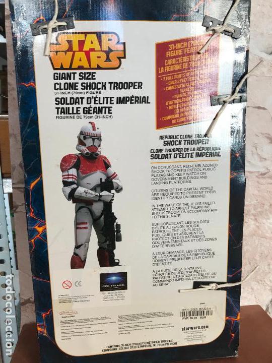 Figuras y Muñecos Star Wars: Shock Trooper de 79 cm de alto nuevo de jugueteria - star wars - Foto 5 - 137946494