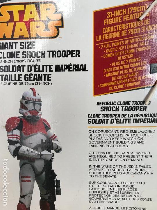 Figuras y Muñecos Star Wars: Shock Trooper de 79 cm de alto nuevo de jugueteria - star wars - Foto 6 - 137946494