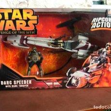 Figuras y Muñecos Star Wars: STAR WARS ROS BARC SPEEDER WITH BARC TROOPER - NUEVO. Lote 137947506