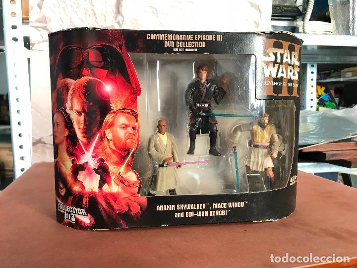 STAR WARS ROTS COMMEMORATIVE DVD COLLECTION ANAKIN MACE OBI-WAN (Juguetes - Figuras de Acción - Star Wars)
