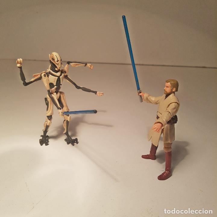 STAR WARS HASBRO OBI WAN KENOBI Y GENERAL GRIEVOUS, CON MECANISMO - VER VIDEO ! (Juguetes - Figuras de Acción - Star Wars)