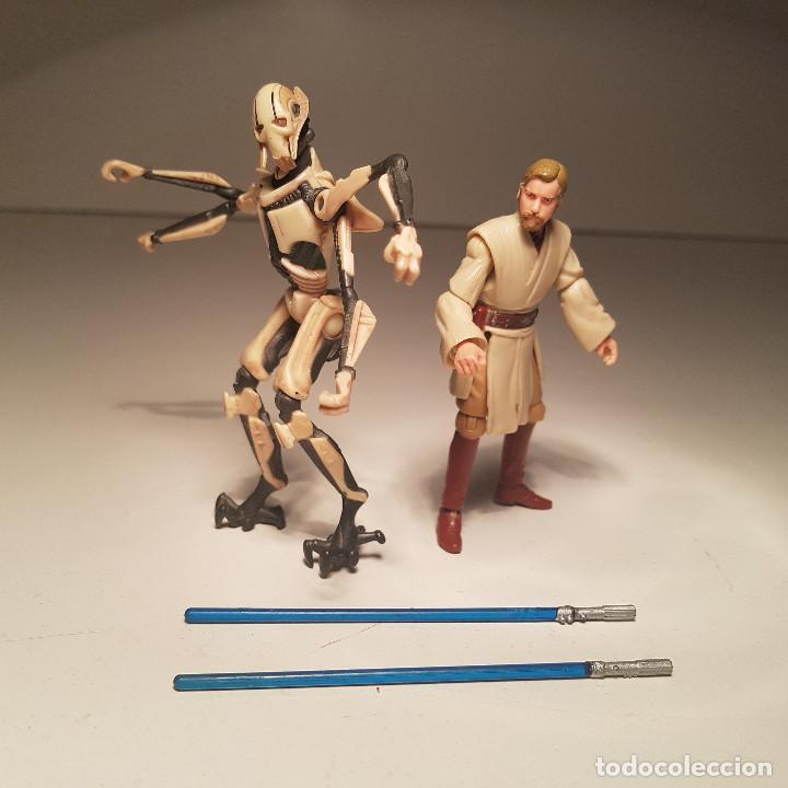 Figuras y Muñecos Star Wars: Star Wars Hasbro Obi Wan Kenobi y General Grievous, con mecanismo - ver video ! - Foto 6 - 138847870
