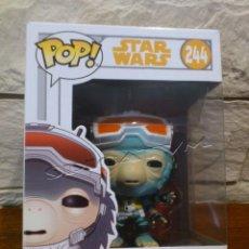 Figuras y Muñecos Star Wars: STAR WARS - FUNKO - HAN SOLO - RIO DURANT - VINYL BOBBLE HEAD - 244 - POP - NUEVO. Lote 139237474