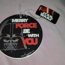 Figuras y Muñecos Star Wars: STAR WARS DECORACIÓN NAVIDEÑA MERRY FORCE BE WITH YOU DARTH VADER. Lote 139533373