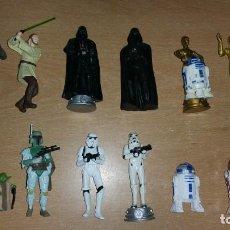 Figuras y Muñecos Star Wars: 13 FIGURAS STAR WARS DARTH VADER YODA CHEWAKA C3PO R2D2 EWOK. Lote 139754698