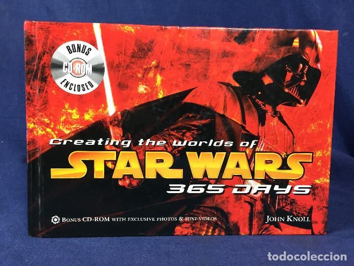 LIBRO CREATING THE WORLDS OF STAR WARS 365 DAYS - CON CD ROM 2005 GUERRA DE LAS GALAXIAS FOTOS (Juguetes - Figuras de Acción - Star Wars)