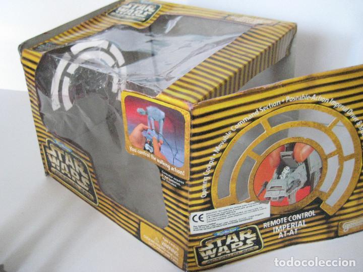 Figuras y Muñecos Star Wars: NAVE IMPERIAL AT-AT MICROMACHINES CON CAJA Y MANDO, BUEN ESTADO - Foto 2 - 140053342