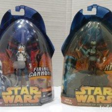 Figuras y Muñecos Star Wars: STAR WARS REVENGE OF THE SITH. FIGURAS CLONE PILOT + AAYLA SEGURA .NUEVOS EN BLISTER ORIGINAL.HASBRO. Lote 140805210