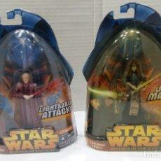 Figuras y Muñecos Star Wars: STAR WARS REVENGE OF THE SITH. FIGURAS PALPATINE + LUMINARA UNDULI.NUEVOS EN BLISTER ORIGINAL.HASBRO. Lote 140805654