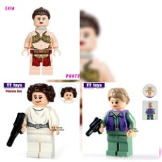 Figuras y Muñecos Star Wars: PIN PRINCESA LEIA FEMINISTA STAR WARS+ 3 MINIFIGURAS PRINCESA LEIA. Lote 141326170