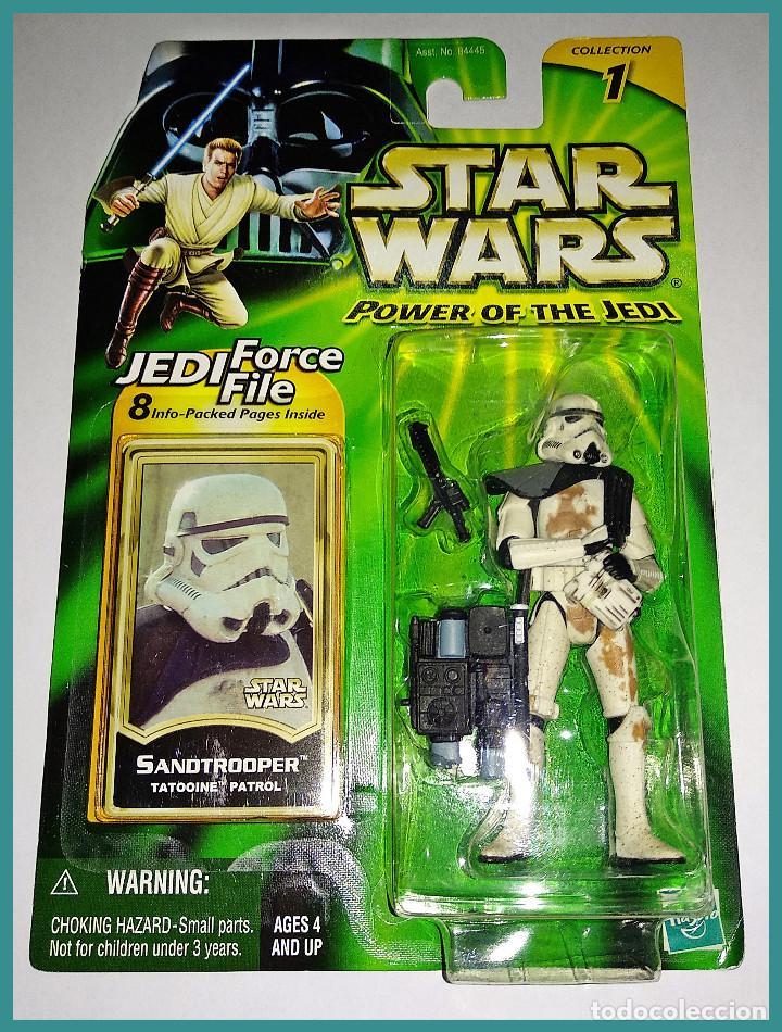 STAR WARS # SANDTROOPER # POWER OF THE JEDI - NUEVO EN SU BLISTER ORIGINAL DE HASBRO. (Juguetes - Figuras de Acción - Star Wars)