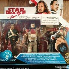 Figuras y Muñecos Star Wars: STAR WARS CHIRRUT IMWE Y BAZE MALBUS FORCE LINK ROGUE ONE. Lote 142096446