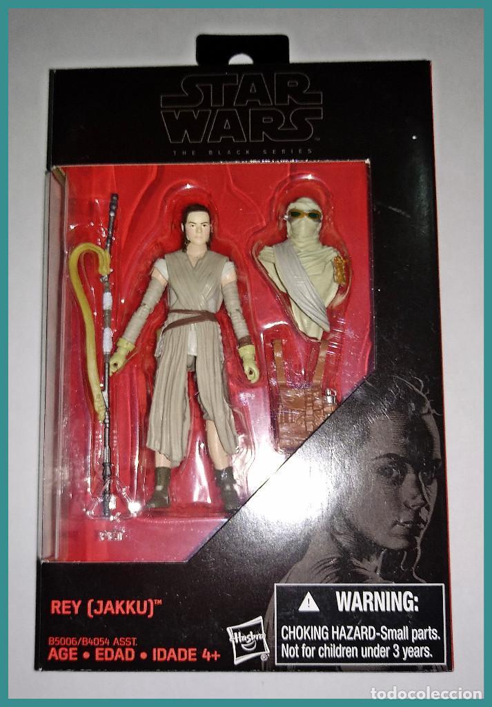 STAR WARS # REY ( JAKKU ) # THE BLACK SERIES - 10 CM APROX - NUEVO EN SU CAJA ORIGINAL DE HASBRO. (Juguetes - Figuras de Acción - Star Wars)