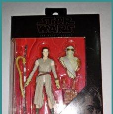 Figuras y Muñecos Star Wars: STAR WARS # REY ( JAKKU ) # THE BLACK SERIES - 10 CM APROX - NUEVO EN SU CAJA ORIGINAL DE HASBRO.. Lote 142271534