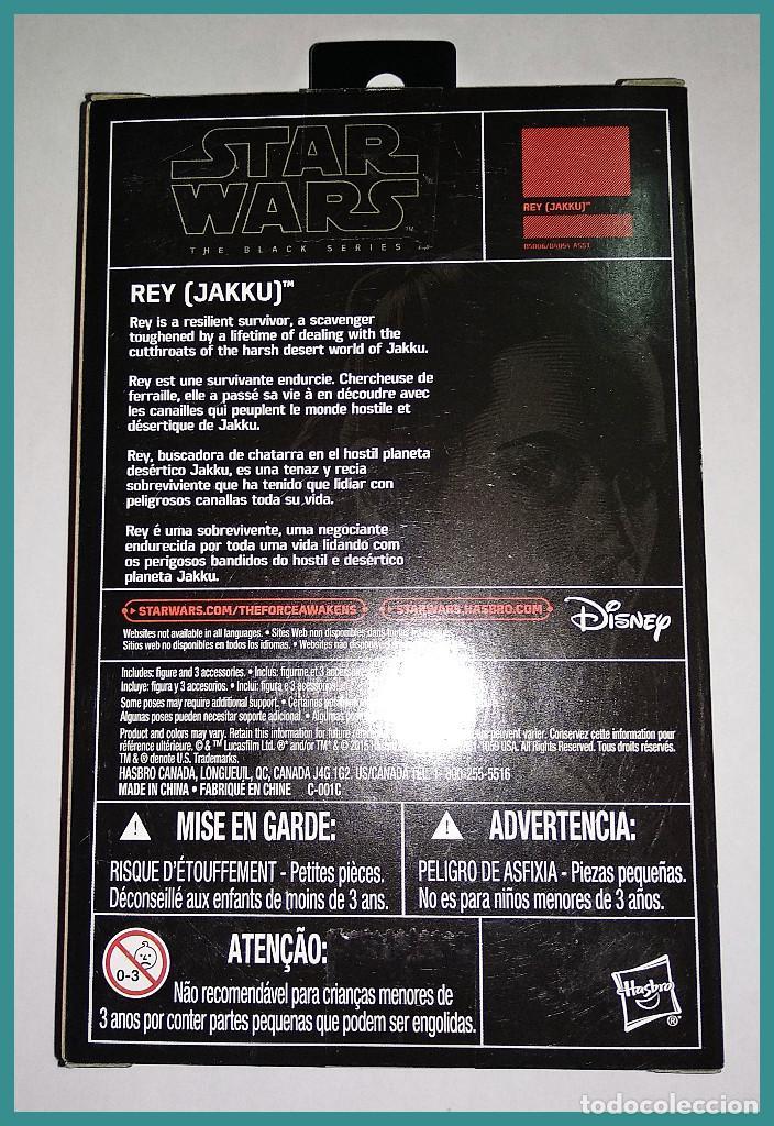 Figuras y Muñecos Star Wars: STAR WARS # REY ( JAKKU ) # THE BLACK SERIES - 10 CM APROX - NUEVO EN SU CAJA ORIGINAL DE HASBRO. - Foto 2 - 142271534