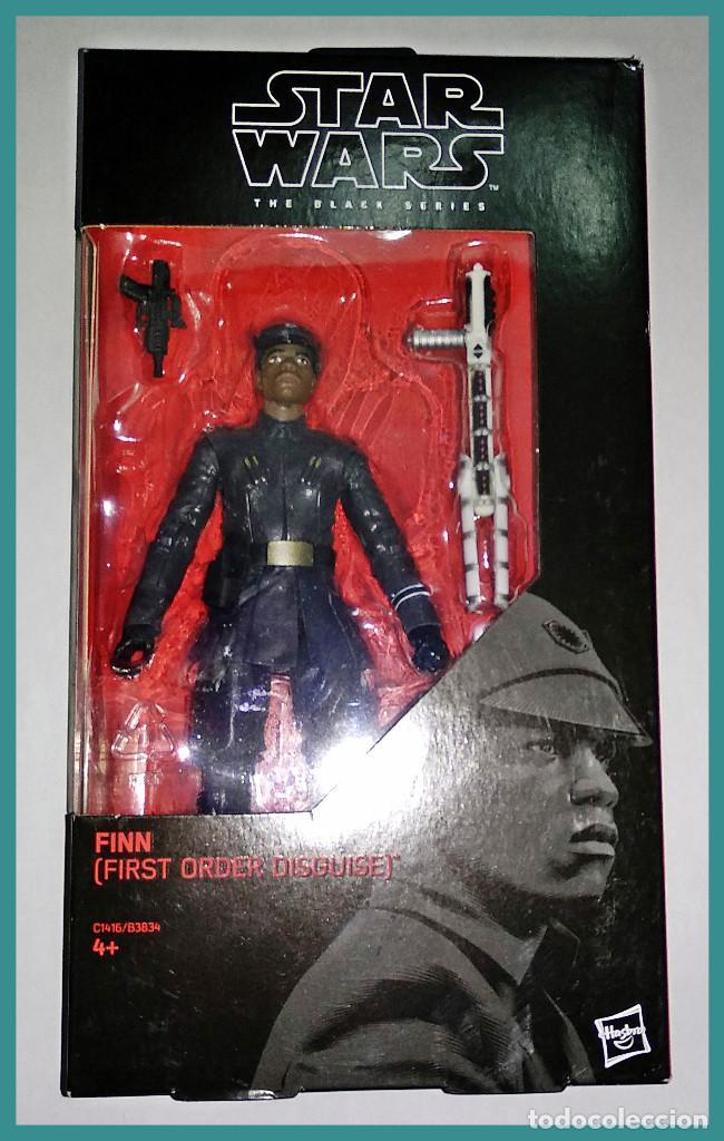 STAR WARS # FINN (FIRST ORDER DISGUISE) # THE BLACK SERIES, 15 CM APROX - NUEVO EN CAJA DE HASBRO. (Juguetes - Figuras de Acción - Star Wars)