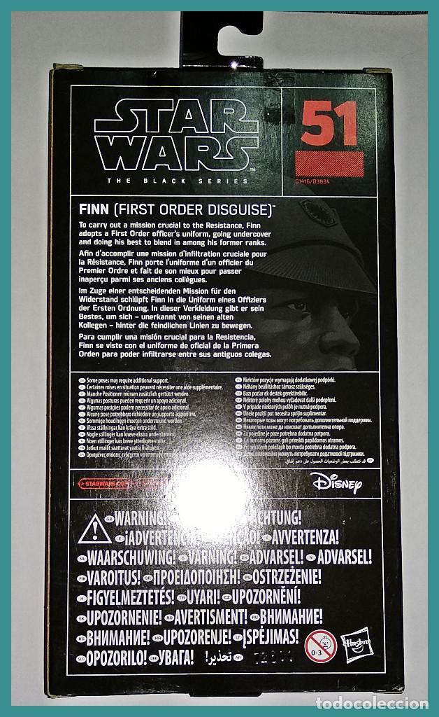 Figuras y Muñecos Star Wars: STAR WARS # FINN (FIRST ORDER DISGUISE) # THE BLACK SERIES, 15 CM APROX - NUEVO EN CAJA DE HASBRO. - Foto 2 - 142272770