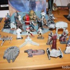 Figuras y Muñecos Star Wars: 41 FIGURAS DE PLOMO DE STAR WARS 2005. Lote 142286806