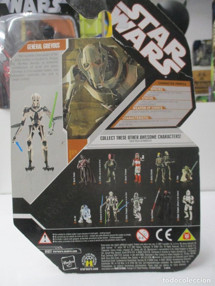 Figuras y Muñecos Star Wars: GENERAL GRIEVOUS - STAR WARS THE SAGA LEGENDS- INCLUYE MONEDA EPISODIO III - NUEVO - Foto 2 - 142661202