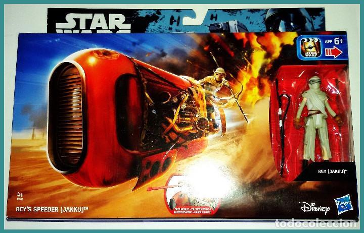 STAR WARS # REY´S SPEEDER ( JAKKU ) # THE FORCE AWAKENS - NUEVO EN SU CAJA ORIGINAL DE HAASBRO. (Juguetes - Figuras de Acción - Star Wars)