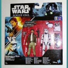 Figuras y Muñecos Star Wars: STAR WARS # CAPTAIN CASSIAN ANDOR & IMPERIAL STORMTROOPER # ROGUE ONE - NUEVO EN SU CAJA ORIGINAL... Lote 142812414