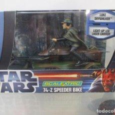 Figuras y Muñecos Star Wars: GUERRA DE LAS GALAXIAS - 74-Z SPEEDER BIKE - LUKE SKYWALKER - SCALEXTRIC - PERFECTO ESTADO. Lote 143621062