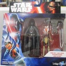 Figuras y Muñecos Star Wars: GUERRA DE LAS GALAXIAS - DARTH VADER + AHSOKA TANO - HASBRO - NUEVO. Lote 143624806