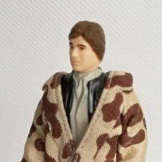Figuras y Muñecos Star Wars: FIGURA STAR WARS: HAN SOLO IN TRENCH COAT, CON ARMA KENNER 1984 - 10 CM DE ALTURA (A-D). Lote 143727122