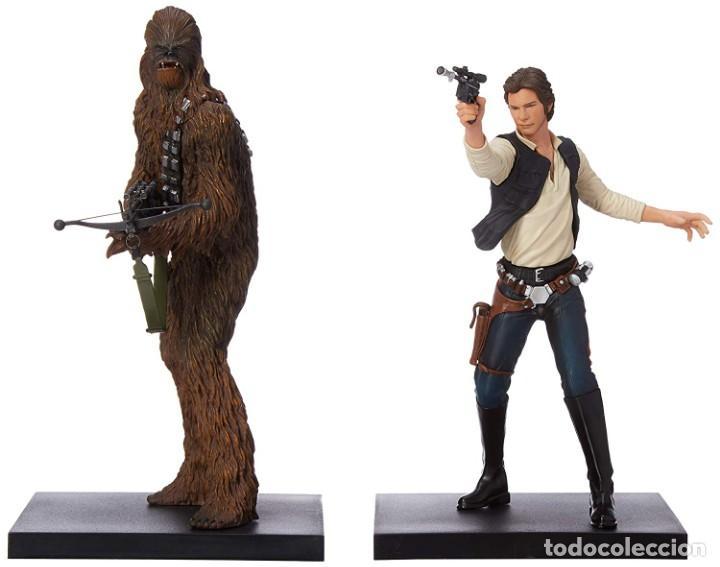 Figuras y Muñecos Star Wars: Kotobukiya Star Wars Artfx Han Solo and Chewbacca 1/10 - Foto 2 - 143833686