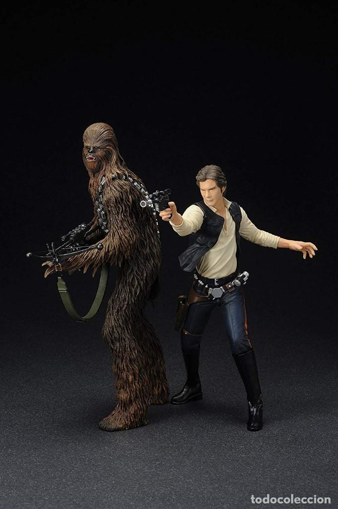 Figuras y Muñecos Star Wars: Kotobukiya Star Wars Artfx Han Solo and Chewbacca 1/10 - Foto 5 - 143833686