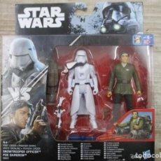 Figuras y Muñecos Star Wars: STAR WARS - HASBRO - SNOWTROOPER OFFICER VS POE DAMERON - PRIMERA ORDEN - NUEVO. Lote 144477278