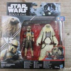 Figuras y Muñecos Star Wars: STAR WARS - HASBRO - MOROFF+ SCARIF STORMTROOPER SQUAD LEADER - ROUGE ONE - NUEVO. Lote 144478118