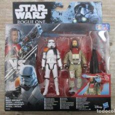 Figuras y Muñecos Star Wars: STAR WARS - HASBRO - BAZE MALBUS VS. IMPERIAL STORMTROOPER - ROUGE ONE - NUEVO. Lote 144478930