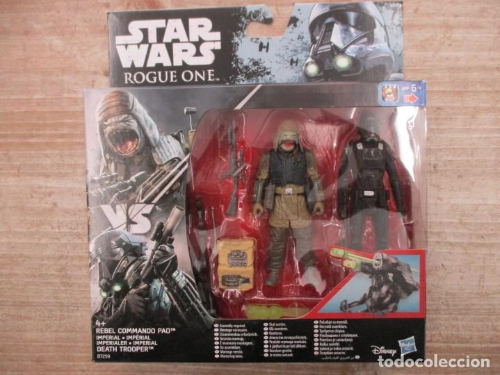 STAR WARS - HASBRO - REBEL COMMANDO PAO + IMPERIAL DEATH TROOPER - ROUGE ONE - NUEVO (Juguetes - Figuras de Acción - Star Wars)