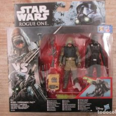 Figuras y Muñecos Star Wars: STAR WARS - HASBRO - REBEL COMMANDO PAO + IMPERIAL DEATH TROOPER - ROUGE ONE - NUEVO. Lote 144479606