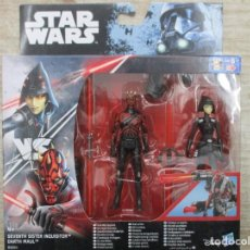 Figuras y Muñecos Star Wars: STAR WARS - HASBRO - SEVENTH SISTER INQUISITOR VS DARTH MAUL - NUEVO. Lote 144480494