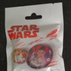 Figuras y Muñecos Star Wars: SOBRE STAR WARS CON 5 ESCUDOS GALACTICOS. Lote 144744242