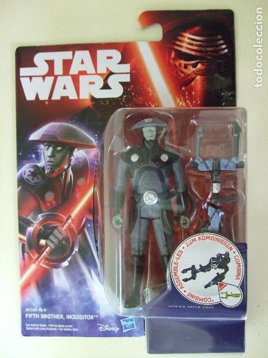 FIGURA FIFTH BROTHER INQUISITOR - STAR WARS REBELS DISNEY HASBRO LA GUERRA DE LAS GALAXIAS MUÑECO (Juguetes - Figuras de Acción - Star Wars)