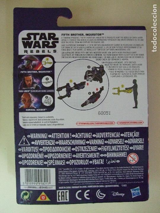 Figuras y Muñecos Star Wars: FIGURA FIFTH BROTHER INQUISITOR - STAR WARS REBELS DISNEY HASBRO LA GUERRA DE LAS GALAXIAS MUÑECO - Foto 3 - 145353466