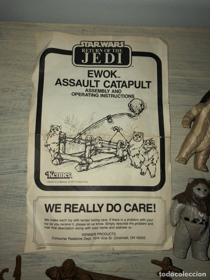 Figuras y Muñecos Star Wars: EWOK ASSAULT CATAPULT - CATAPULTA EWOKS - STAR WARS VINTAGE 1980's - EL RETORNO DEL JEDI - Foto 8 - 145942226