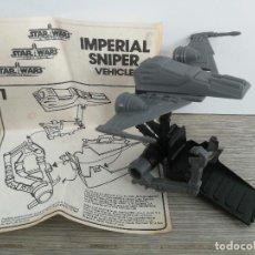 Figuras y Muñecos Star Wars: ANTIGUA NAVE DE STAR WARS - IMPERIAL SNIPER VEHICLE - LUCASFILM 1985 - CON SUS INSTRUCCIONES - EN BU. Lote 146167146