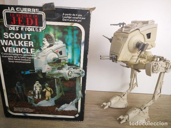 ANTIGUO SCOUT WALKER VEHICLE - STAR WARS - EL RETORNO DEL JEDI - LUCASFILM 1982 - COMPLETO - EN SU C (Juguetes - Figuras de Acción - Star Wars)