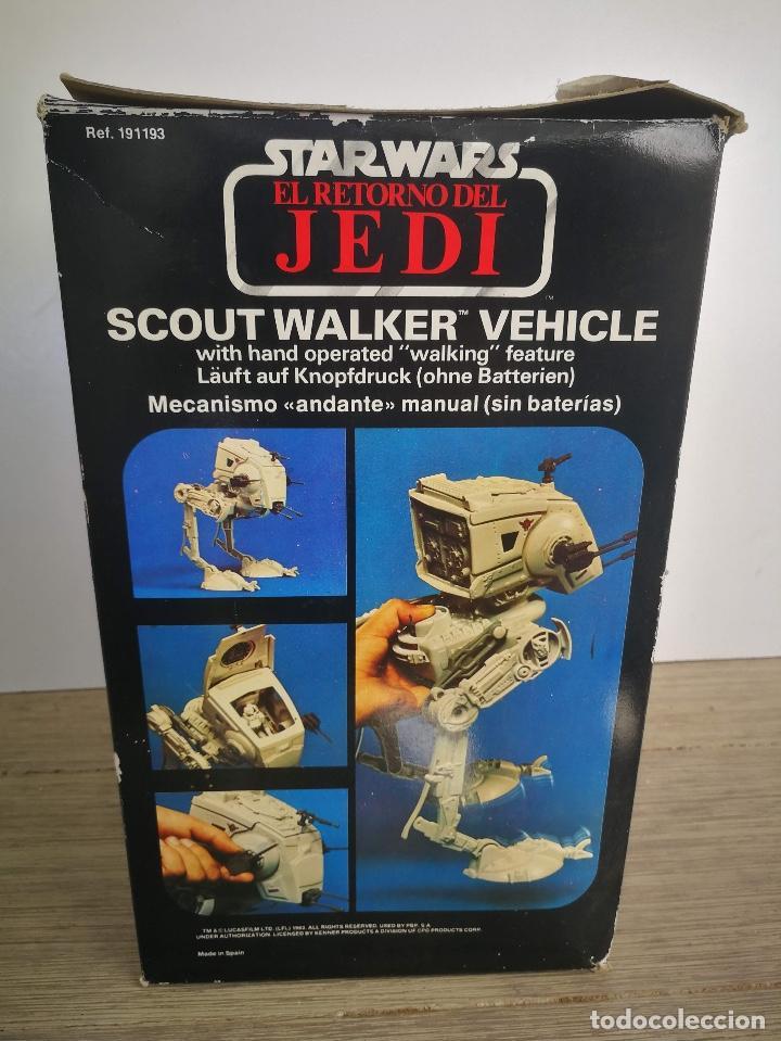 Figuras y Muñecos Star Wars: ANTIGUO SCOUT WALKER VEHICLE - STAR WARS - EL RETORNO DEL JEDI - LUCASFILM 1982 - COMPLETO - EN SU C - Foto 3 - 146260530