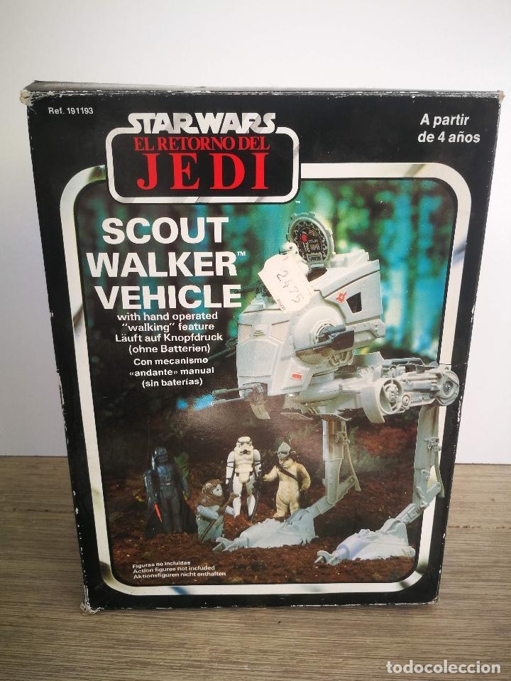 Figuras y Muñecos Star Wars: ANTIGUO SCOUT WALKER VEHICLE - STAR WARS - EL RETORNO DEL JEDI - LUCASFILM 1982 - COMPLETO - EN SU C - Foto 4 - 146260530
