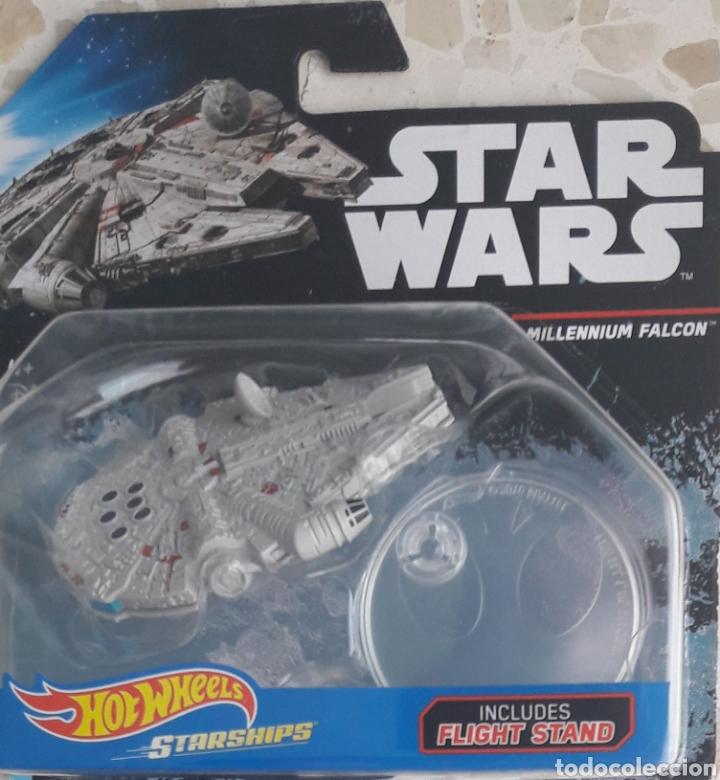 HOT WHEELS STAR WARS NAVE HALCÓN MILENARIO. ANTENA REDONDA (Juguetes - Figuras de Acción - Star Wars)